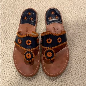 Jack Rogers Blue Orange Navajo 8.5